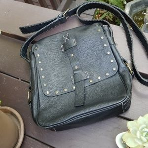 Excellent studded leather bag. Made in Korea! So D